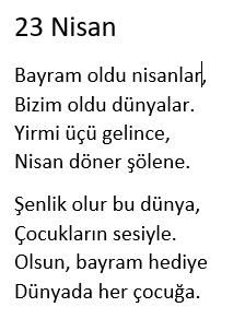 23-nisan-şiirleri