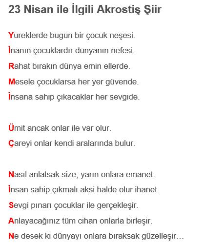 23-nisan-şiirleri-akrostiş
