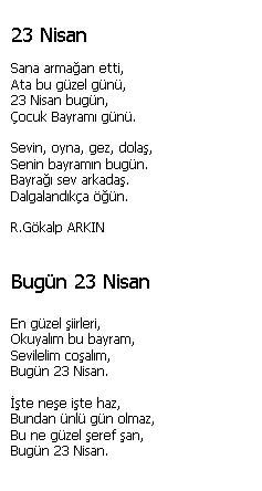 23-nisan-ile-ile-ilgili-şiirler