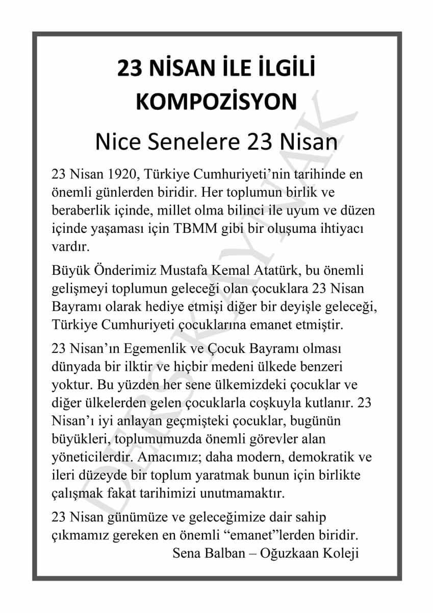 23 nisan-ulusal-egemenlik-ve-çocuk-bayramı-ile-ilgili-kompozisyon-yazı