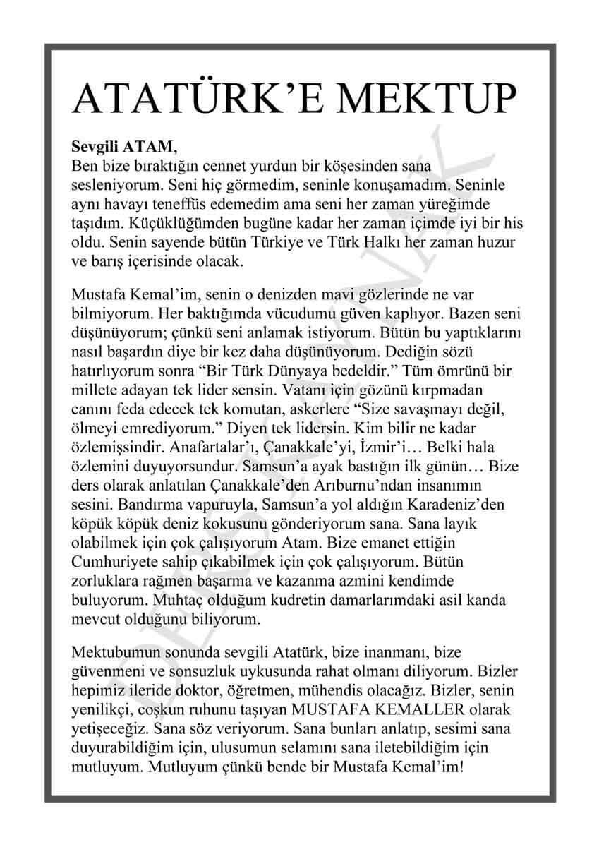 atatürk'e-mektup-yazma-örnekleri
