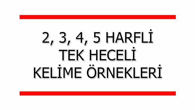 2-3-4-5-Harfli-Tek-Heceli-Sözcükler